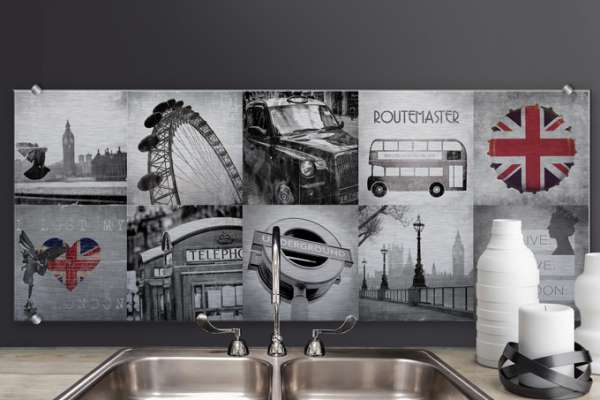 "Скинали Optiwhite ""Splashback Alu-Dibond Impressions of London"""