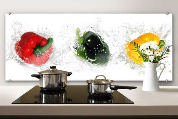 "Скинали Optiwhite ""Splashing Peppers Panorama"""